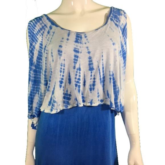 NWT Santiki Blue/White Maxi Dress 1140